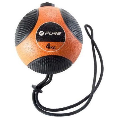 Piłka lekarska z liną PURE 2 IMPROVE Medicine Ball Rope 4 kg + DARMOWY TRANSPORT! (8719407003621)