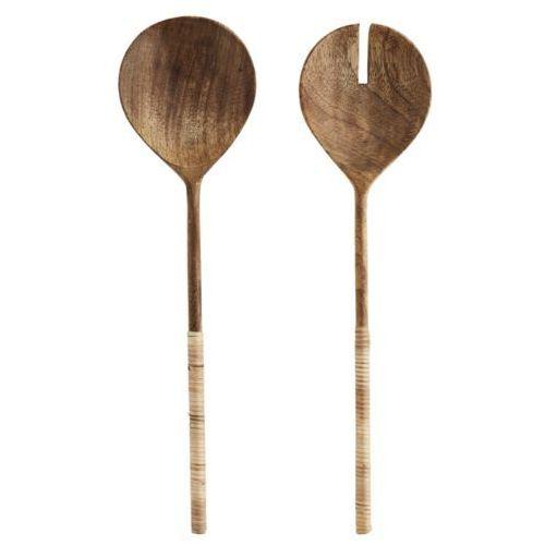 Madam Stoltz - Drewniane sztućce do sałaty