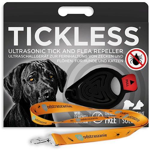 Tickless Odstraszacz kleszczy dla psów. pet. odstraszacz na pchły czarny. (5999566451034)