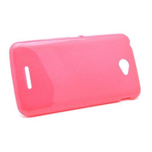 Silokonowe Etui Sony Xperia E4 Shining różowy, kolor różowy