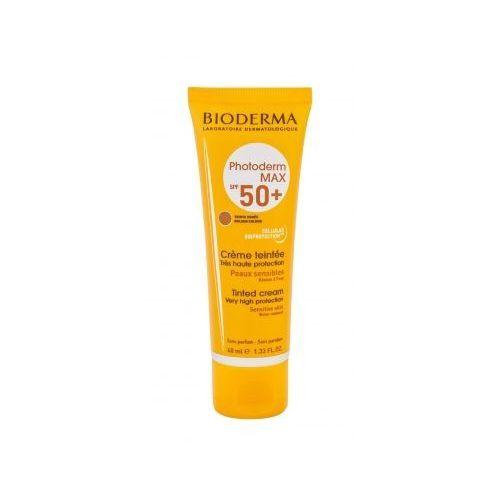 Bioderma photoderm max tinted cream spf50+ preparat samoopalający do twarzy 40 ml dla kobiet golden colour
