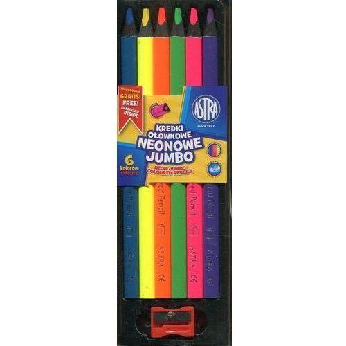 Astra papiernicze Kredki ołówkowe neonowe jumbo 6 kolorów astra