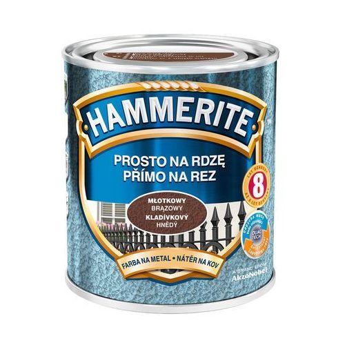 Hammerite Farba prosto na rdzę - efekt młotkowy brązowy 0,7l