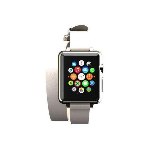 reese double wrap - skórzany pasek do apple watch 42mm (taupe) marki Incipio