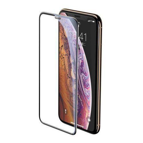 Baseus Full-screen szkło hartowane 3D na cały ekran z osłoną na głośnik Apple iPhone 11 Pro Max / iPhone XS Max czarny (SGAPIPH65-WA01) (6953156289796)