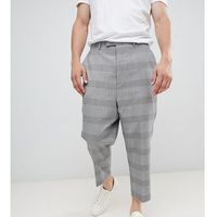 Heart & Dagger extreme drop crotch tapered trouser in grey jacquard - Grey