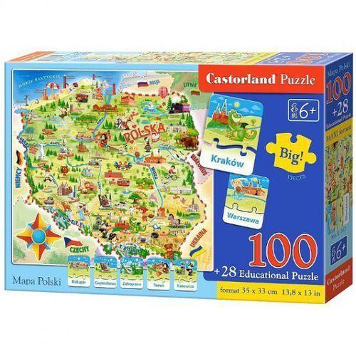 Rayo Puzzle 100 elementów + 28 puzzli edukacyjnych - mapa polski (5904438000142)