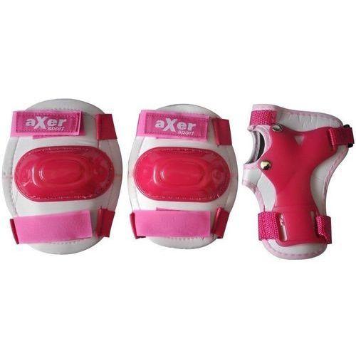 Zestaw ochraniaczy a0506 little różowy (rozmiar l) marki Axer sport