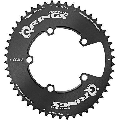 Rotor q-ring road aero ocp3 zębatka rowerowa 110mm zewn. czarny 50 zębów 2018 zębatki przednie