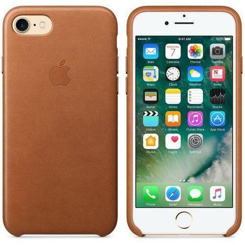 Apple Leather Case - Skórzane etui iPhone 7 (naturalny brąz)
