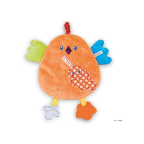 Kaloo colors activity szmacianka-przytulanka kurka z gryzakiem (4895029633317)
