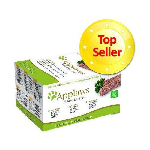 Zestaw próbny Applaws Cat Paté, 7 x 100 g - 3 x kurczak, 2 x jagnięcina, 2 x łosoś