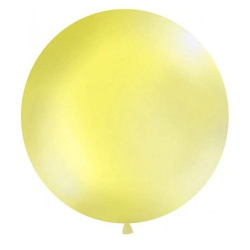 Balon Gigant 1 m, żółty, pastel