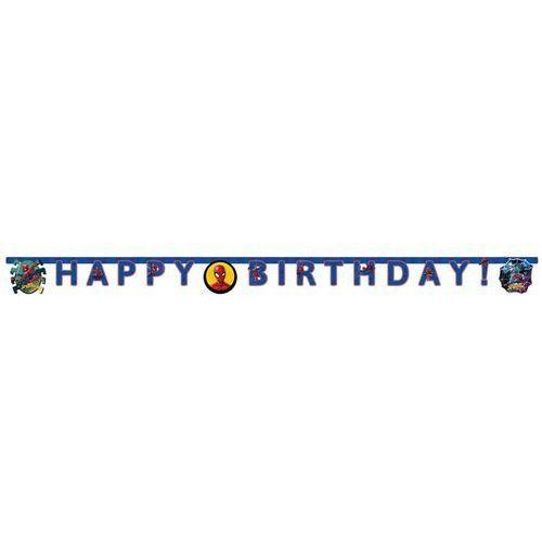 Baner urodzinowy Happy Birthday Spiderman Team Up - 210 cm - 1 szt. (5201184894545)