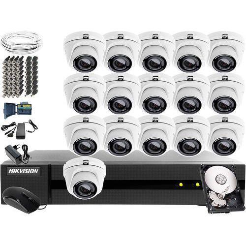 System kompletnego monitoringu szpitala, przychodni Hikvision Hiwatch Turbo HD, AHD, CVI HWD-6116MH-G2, 16 x HWT-T140-M, 1TB, Akcesoria, ZM10902