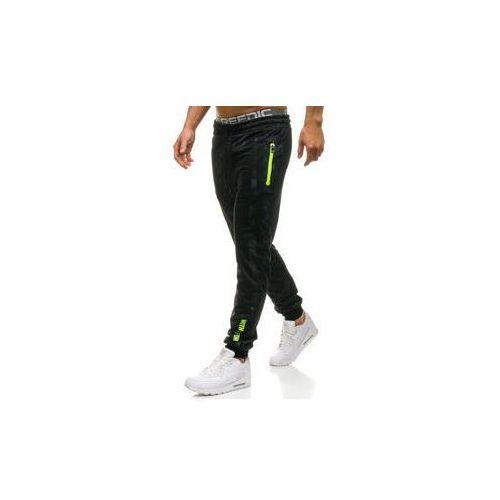 Spodnie męskie dresowe joggery czarne denley w1331 marki Red fireball