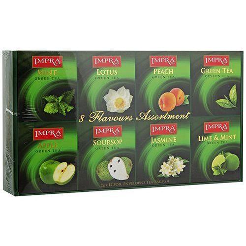 96x2g zestaw zielonych herbat aromatyzowanych kopertowanych premium marki Impra