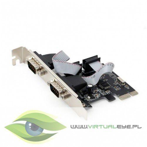 karta sieciowa pci express/ 2porty rs232/2mbps marki Gembird