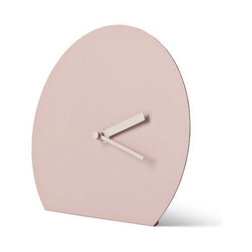Menu - zegar stojący stalowy - naturalny