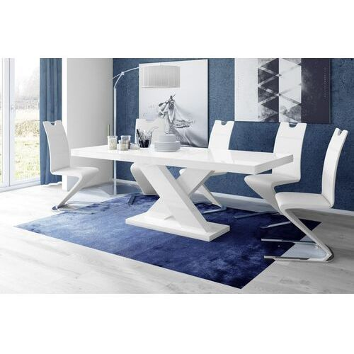 Stół rozkładany XENON 160-208 Biały połysk