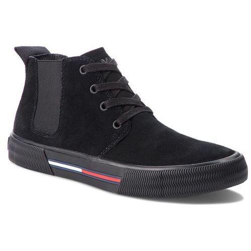 Trzewiki TOMMY JEANS - Chukka City Sneaker EM0EM00127 Black 990