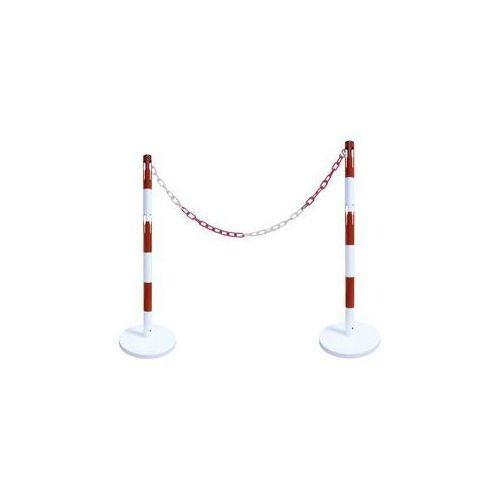 Zestaw słupków odgradzających,z 2 słupkami, łańcuch 2,5 m marki Viso cpn industries