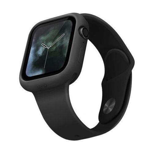 UNIQ etui Lino Apple Watch Series 5/4 40MM czarny/ash black - Czarny (8886463671092)