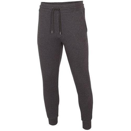4f Męskie spodnie dresowe h4l19 spmd001 ciemny szary melanż 23m xxl