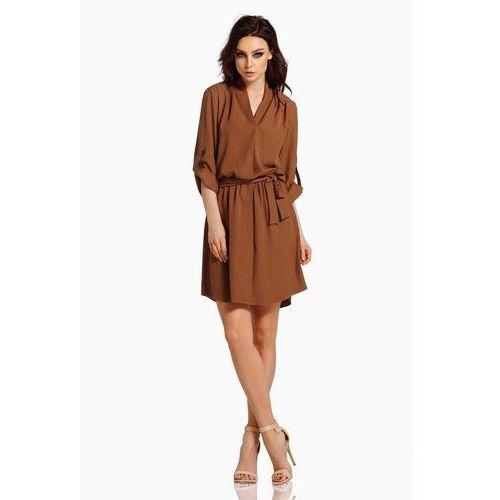 3fdc780285 Czekoladowa koszulowa sukienka z koperto... Producent Lemoniade  Rodzaj  kopertowa ...