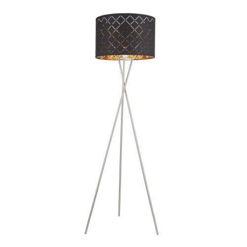 clarke lampa stojąca nikiel matowy, 1-punktowy - nowoczesny - obszar wewnętrzny - clarke - czas dostawy: od 6-10 dni roboczych marki Globo