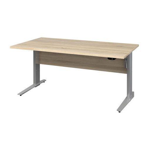 PRIMA biurko z el. regulowanymi nogami 150 cm - dąb sonoma \ biały