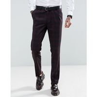 skinny fit blue and red checked suit trousers - blue marki Gianni feraud