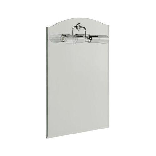 Dubiel vitrum Lustro łazienkowe z oświetleniem kinkietowym sola 45 x 63