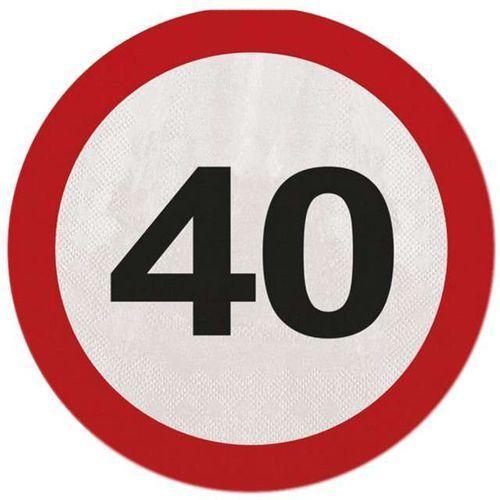 Serwetki Znak zakazu 40tka - 33 cm - 20 szt.