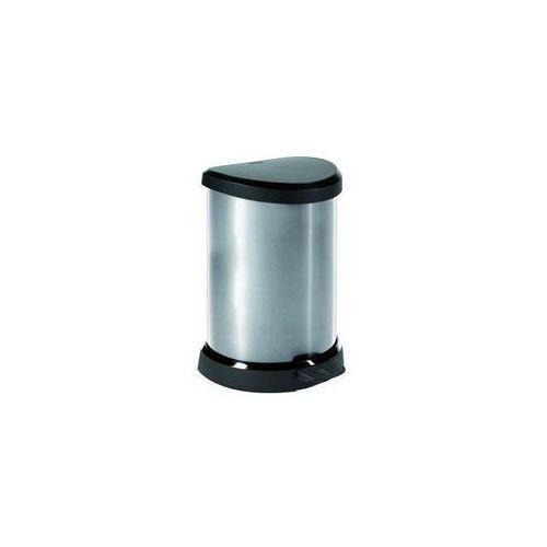 OKAZJA - Curver  kosz na śmieci metalizowany 20l z ramką