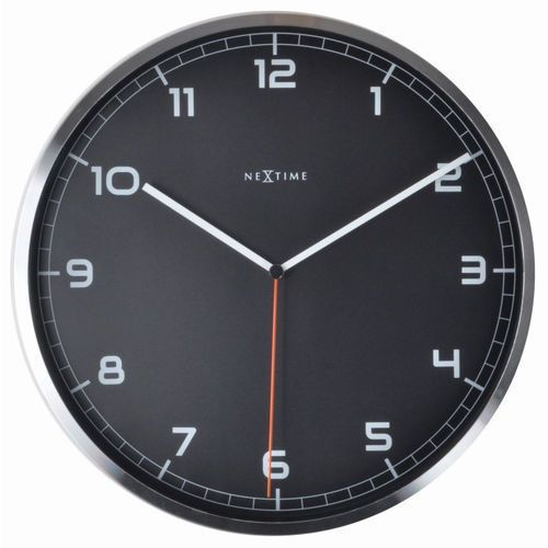 NeXtime - zegar ścienny Company 35 cm - czarny