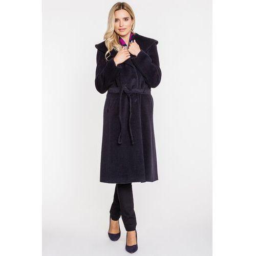 Długi płaszcz z alpaki i wełny dziewiczej - Vito Vergelis, 1 rozmiar