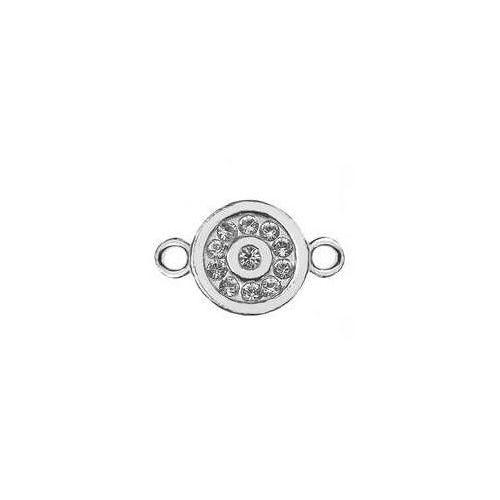 925.pl Łącznik / zawieszka okrągła z kamieniami swarovski, srebro 925 s-charm 281