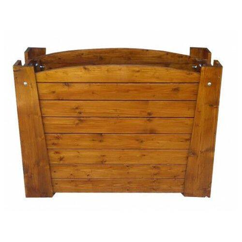 Elior Prostokątna drewniana donica ogrodowa - akoja