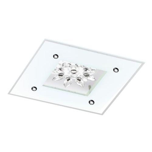 Eglo Plafon benalua 1 96536 lampa sufitowa ścienna 1x18w led biały kryształ przezroczysty (9002759965365)