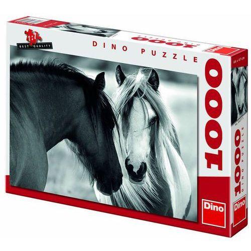 Puzzle 1000 Czarny i biały koń DINO (8590878532113)