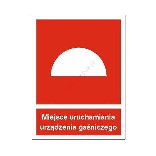 Znak Miejsce uruchamiania urządzenia gaśniczego PB
