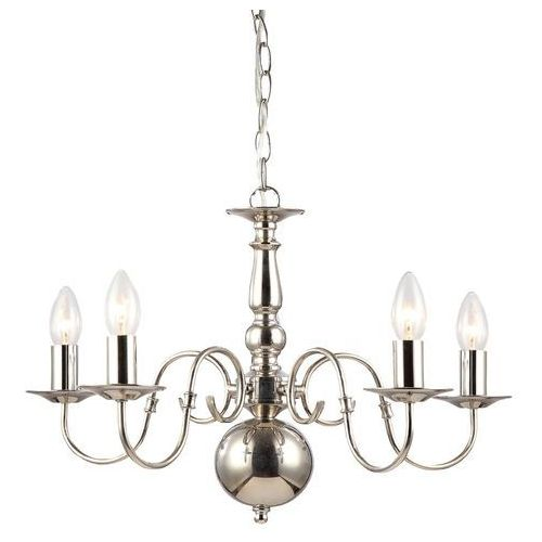 Lampa wisząca marion 5 x 40 w e14 nikiel marki Italux