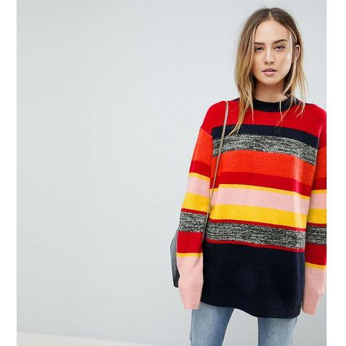 ASOS TALL Oversized Jumper in Stripe - Multi