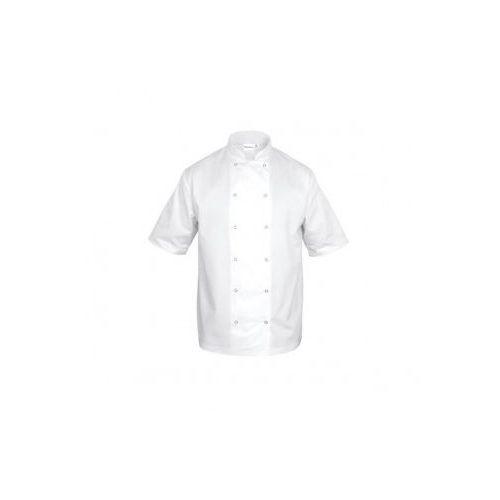 Bluza kucharska chef unisex biała (krótki rękaw) marki Nino cucino