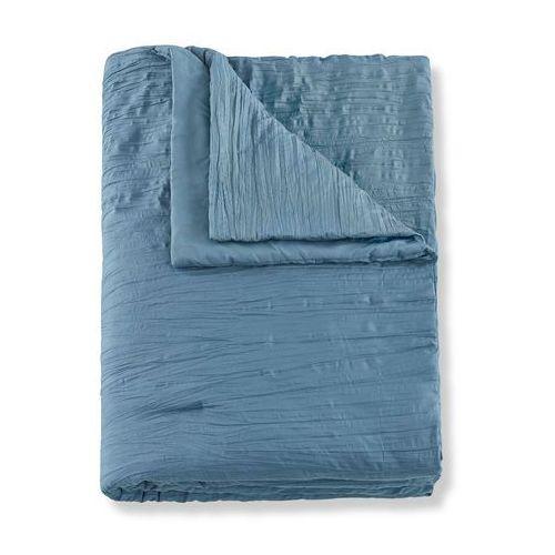 Narzuta na łóżko z efektem kreszowania bonprix niebieski