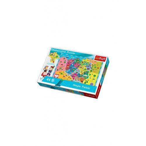 Trefl 44 el. mapa polski dla dzieci puzzle edukacyjne