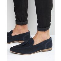 KG By Kurt Geiger Denton Tassel Loafers In Navy Suede - Blue