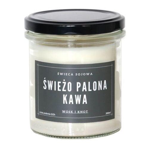 Świeca sojowa ŚWIEŻO PALONA KAWA - aromatyczna ręcznie robiona naturalna świeca zapachowa w słoiczku 300ml