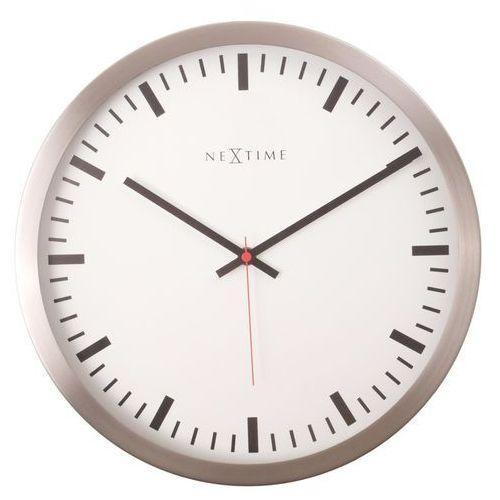 Zegar ścienny Stripe Nextime 25 cm, biały (2520) (8717545050651)